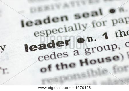Definition Of Leader