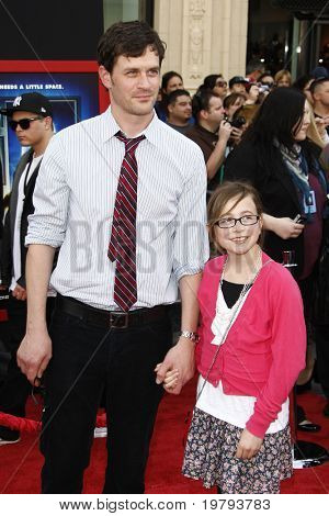 LOS ANGELES - MARCH 6: Tom Everett Scott and daughter Arly arrives at the