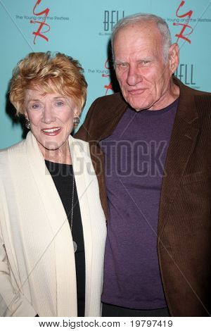 LOS ANGELES - MAR 18:  Jeanne Cooper, Michael Fairman arriving at The Young & the Restless 38th Anniversary Party Hosted by The Bell Family at Avalon Hotel on March 18, 2011 in Beverly HIlls, CA