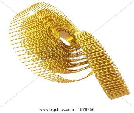 Optical Art Lorenz Golden Fractal Attractor Four