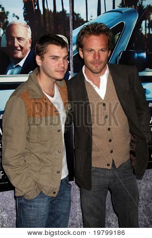 LOS ANGELES - MAR 22:  Emile Hirsch and Stephen Dorff arrive at the HBO's