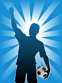 Постер, плакат: Футбол футбол спортивный силуэт