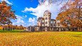 Hiroshima, Japan at the Atomic Bomb Dome in autumn. poster