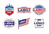 Happy Labor Day.america Labor Day For Greeting Card.typography Labor Day Labels Or Badges Design.lab poster