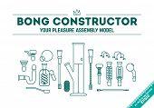 Vector Illustration - Bong Constructor poster