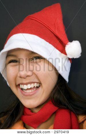 Teen In Christmas Mood