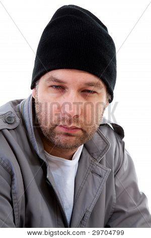 Male Homeless Beggar
