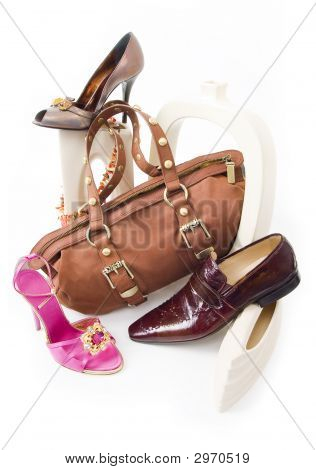 Modern Still-Life With Shoes And Bag