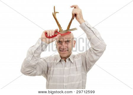 Man With Antlers