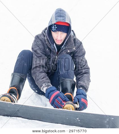 Snowboard preparing