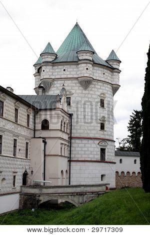 tower of renaissance casttle in Krasiczyn