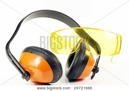 Ear Defenders And Goggles