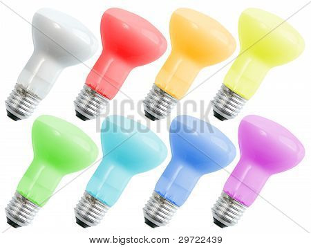 Set Of Colored Compact Lighting Lamps