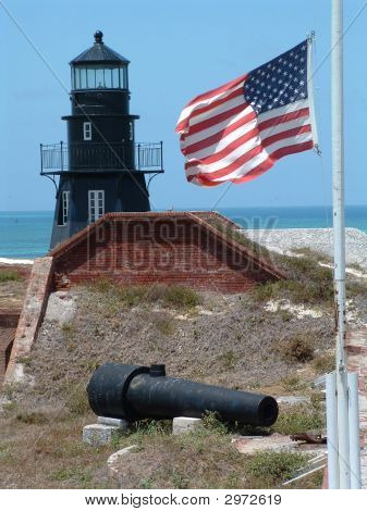 Fort Jefferson, American Flag