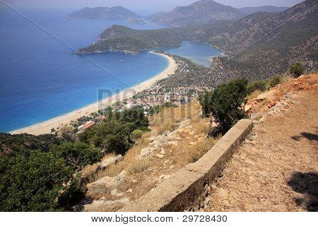 Oludeniz viewed from the Lycian Way