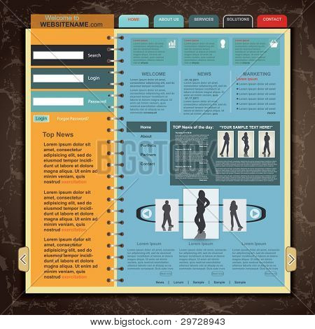 Web Site Template , vector