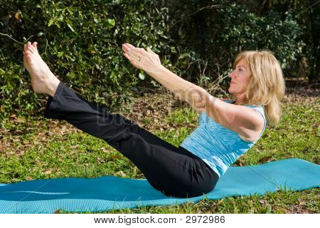 Mature Woman Pilates