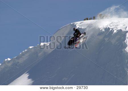 Jumping Snowmobiler