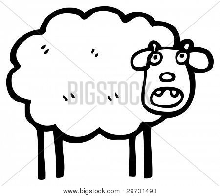 (raster version) cartoon sheep bleating