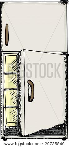 Open Door Fridge
