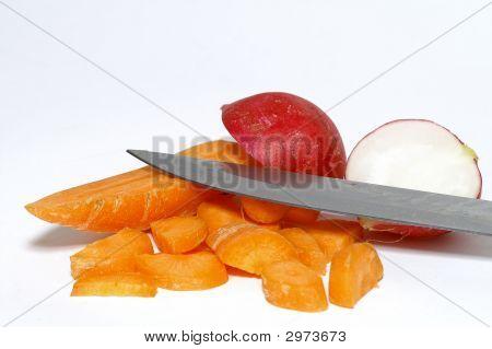 Carrot And Radish Vegetable Stillife