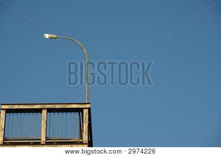 Light Pole On Platform