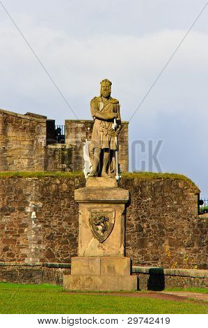 King Robert The Bruce Statue, Castle Of Stirling, Scotland