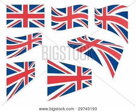 Set Of United Kingdom Flags