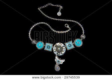 Rhodium coated necklace