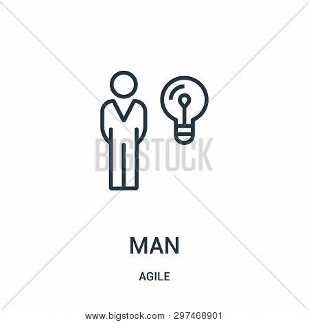 poster of Man Icon Isolated On White Background From Agile Collection. Man Icon Trendy And Modern Man Symbol F