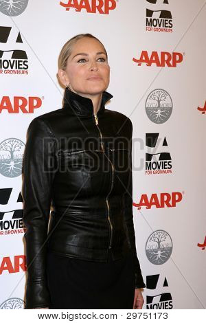 LOS ANGELES - FEB 6:  Sharon Stone arrives at the AARP's 11th Annual Movies For Gownups Awards at Beverly Wilshire Hotel on February 6, 2012 in Beverly Hills, CA