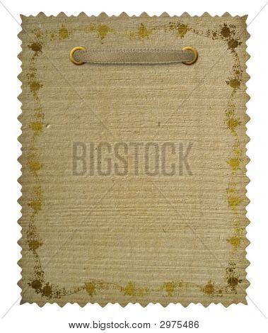 Vintage Floral Frame. Grunge Paper