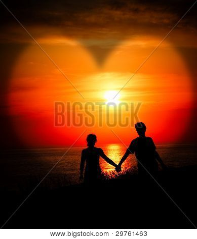 Lovers At Sunset