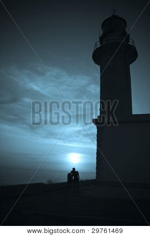 Lovers Under Lighthouse