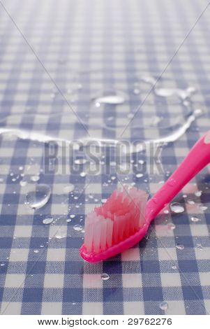 Toothbrush With Water Drops