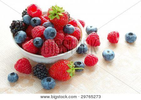Big Pile of Fresh Berries