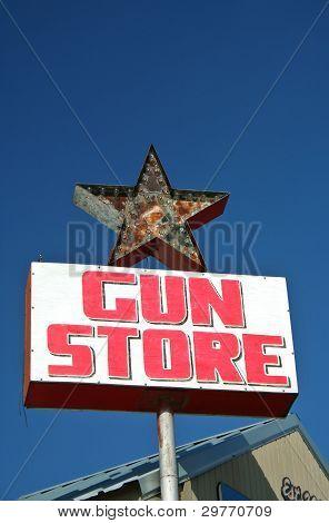Vintage Gun Store Sign