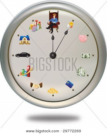 Time is money ***can set the clock hand as you want