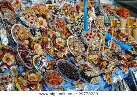 Sun dried fruits comprising of apricots, raisins, cherries
