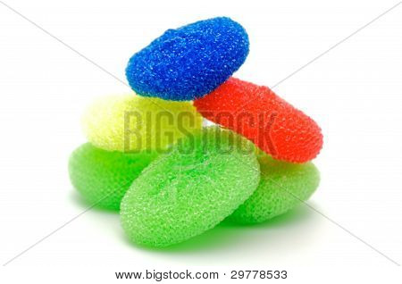 Color wisps for ware washing