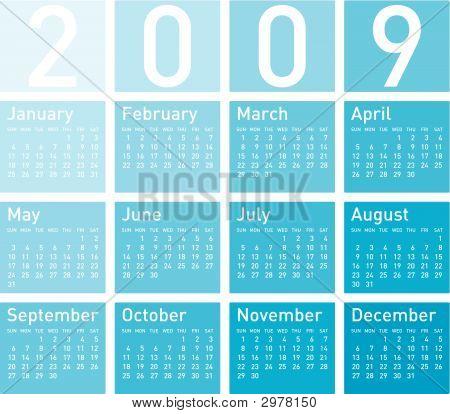 Calendar 2009_Blue