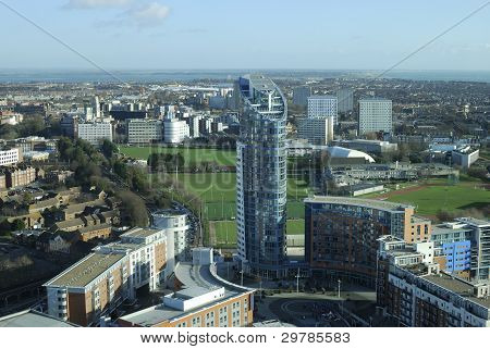 View Across Portsmouth, Hampshire,UK
