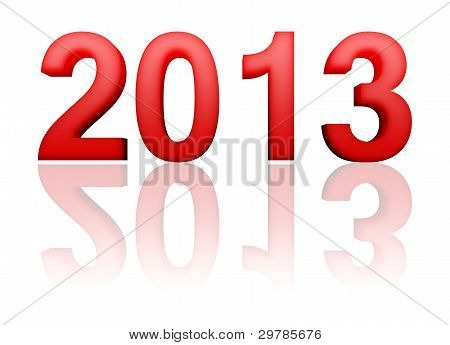 2013 Year With Reflection
