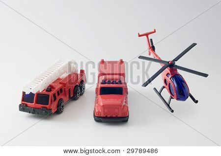 Diecast toy fire truck