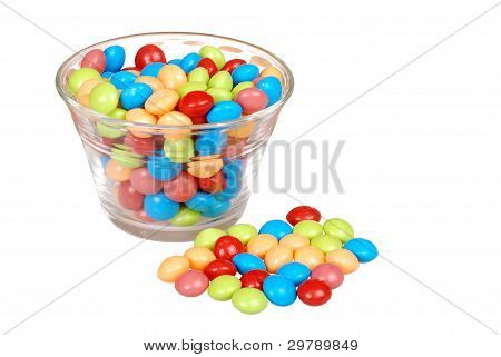 bowl of colorful fruit candy