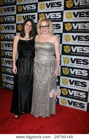 LOS ANGELES - FEB 7:  Fiance Melanie Goldstein, Kirsten Vangsness arrives at the 10th Annual Visual Effects Society Awards at Beverly Hilton Hotel on February 7, 2012 in Beverly Hills, CA