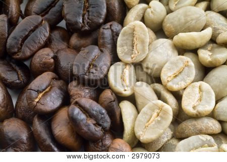 Black And Green Coffee Beans