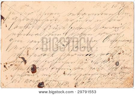Fragment Of An Old Handwritten Letter, Written In Germany In 1895