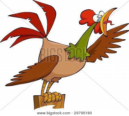 卡通公鸡 库存矢量图和库存照片