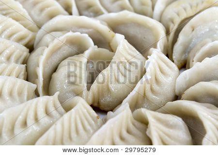 Potstickers Chinese Dumplings Closeup